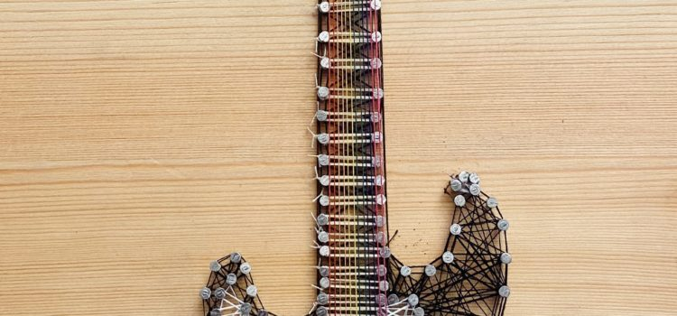 DIY: Guitar String Art