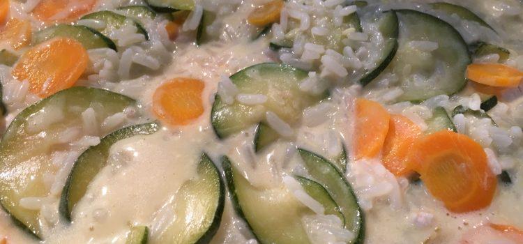 Rezept: Reispfanne mit Hühnchen und Gemüse
